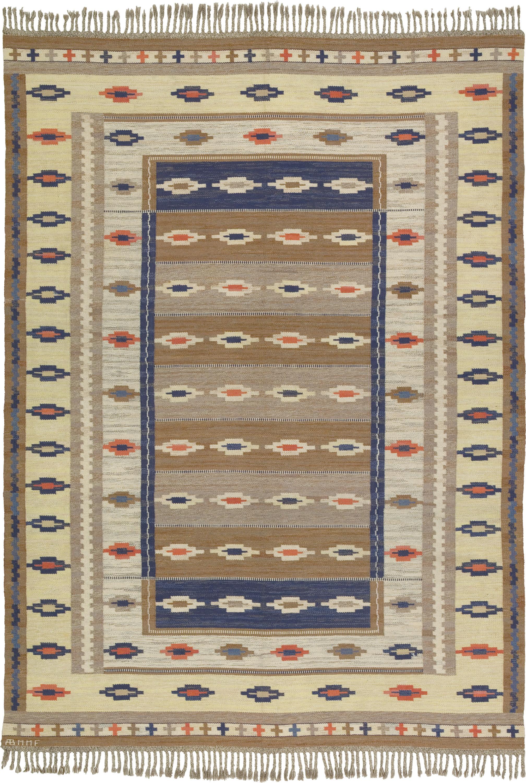 02746 Swedish Flat Weave Rug | FJ Hakimian