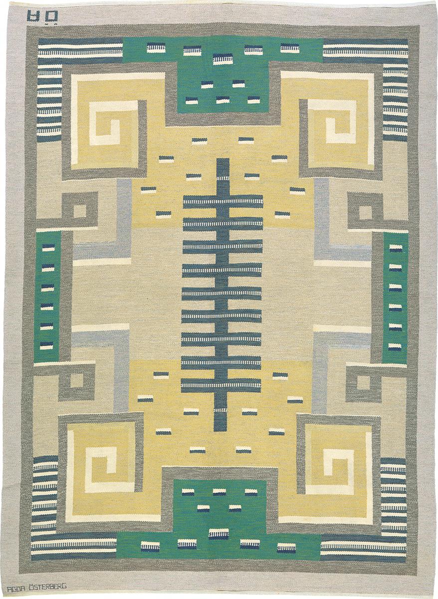 Swedish Flat Weave Rug #02811   FJ Hakimian