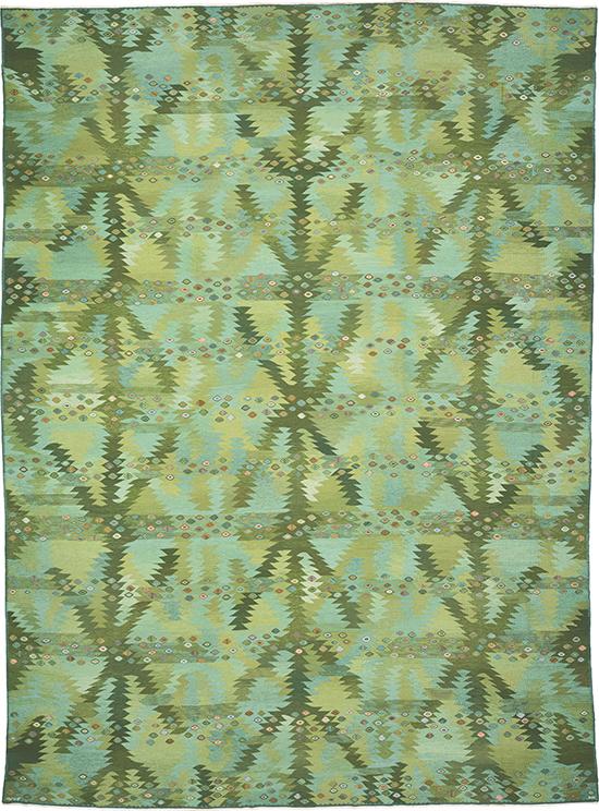 Swedish Flat Weave Rug #02954 | FJ Hakimian