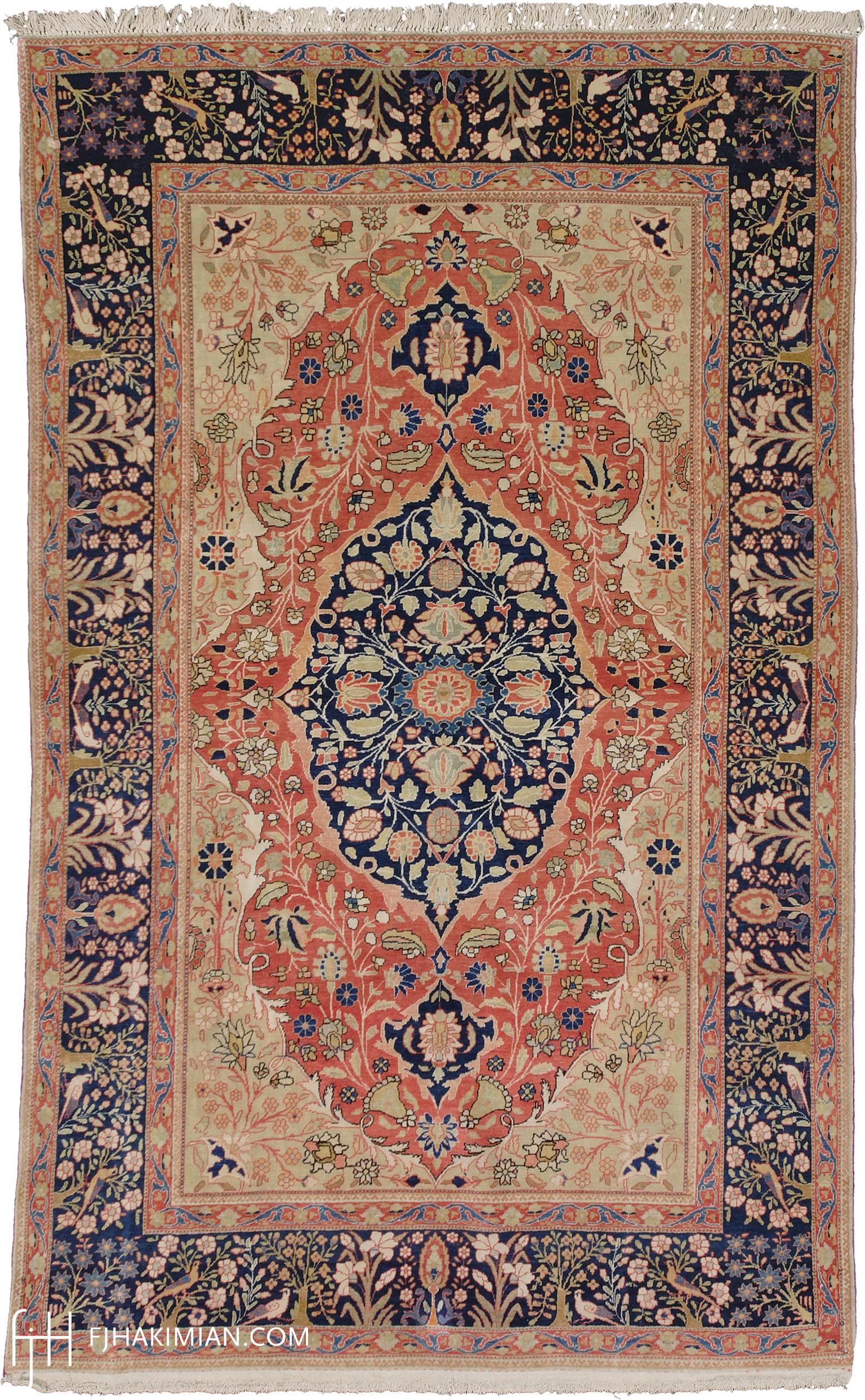 11073 Persian Mohtasham Kashan Rug | FJ Hakimian