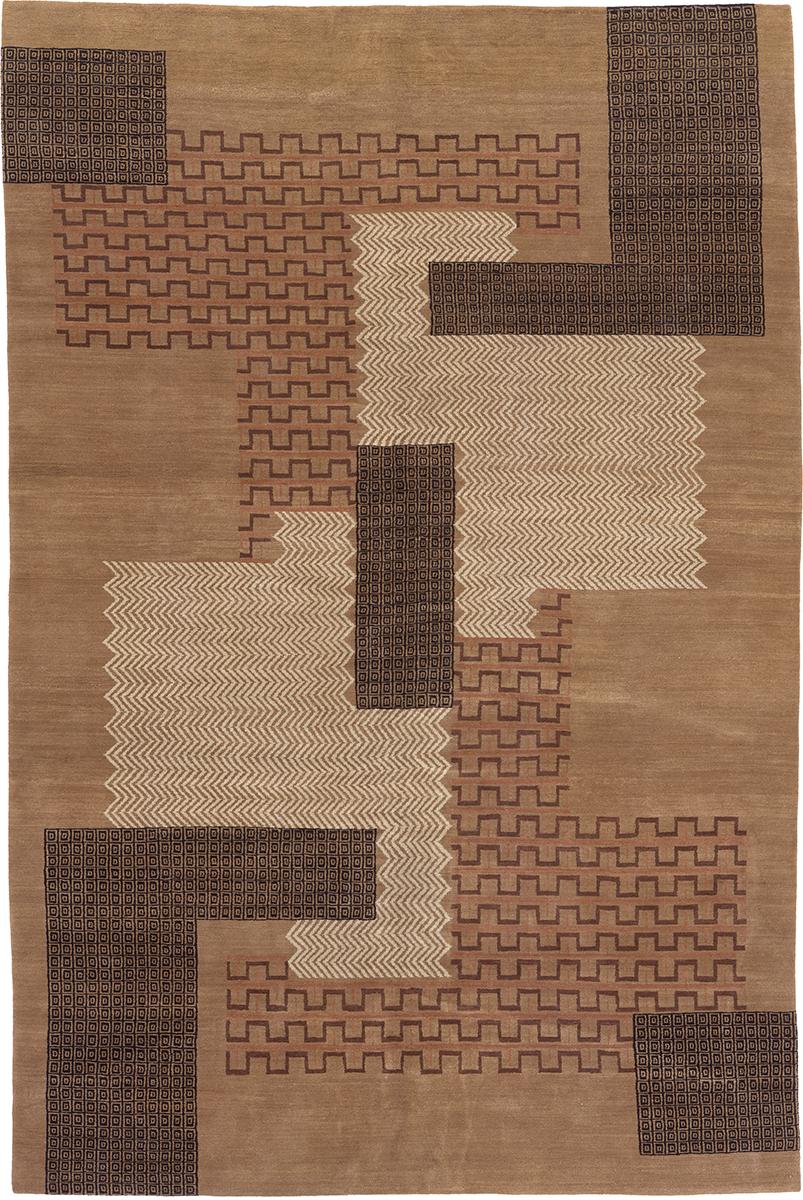 Custom Bruhns Jigsaw Carpet   FJ Hakimian