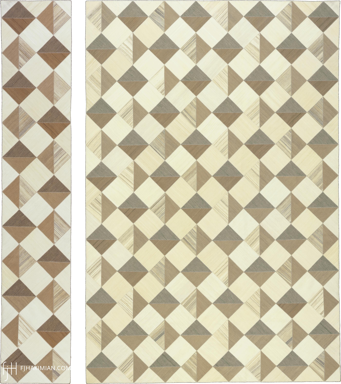 23206 & 23200 Vintage Kilim Composition | FJ Hakimian
