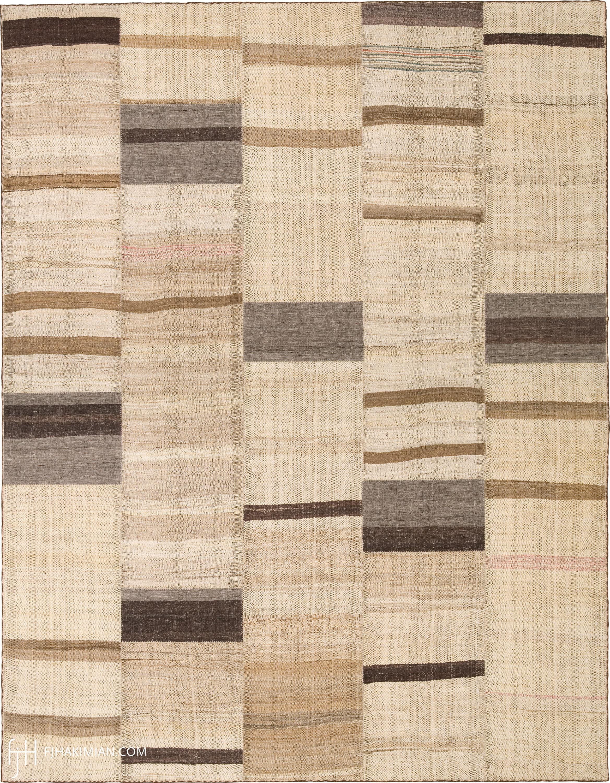 Vintage Kilim Composition #23352   FJ Hakimian