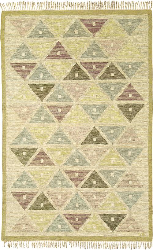 Swedish Flat Weave Rug #02647 | FJ Hakimian