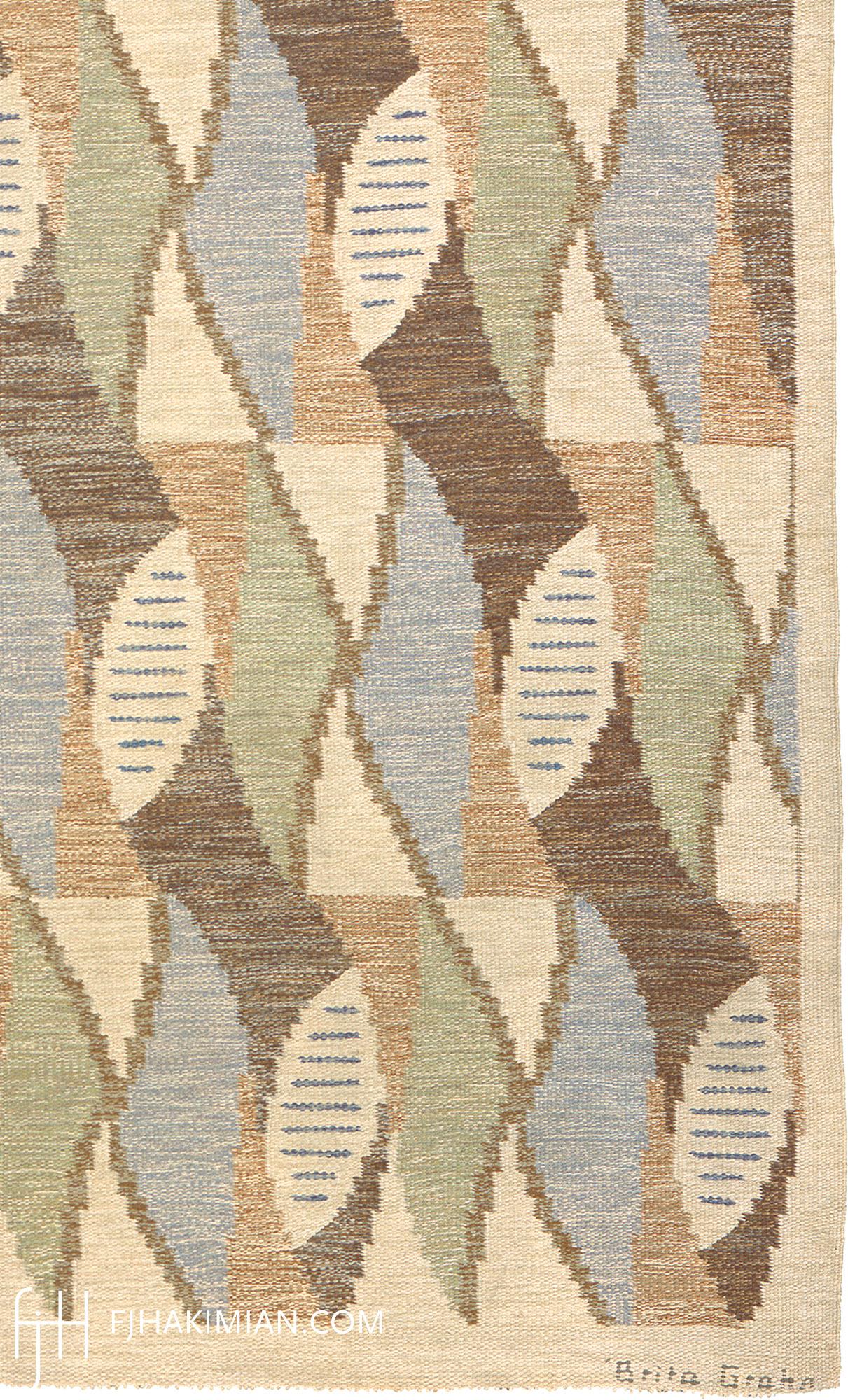 Swedish Flat Weave Rug #02783   FJ Hakimian