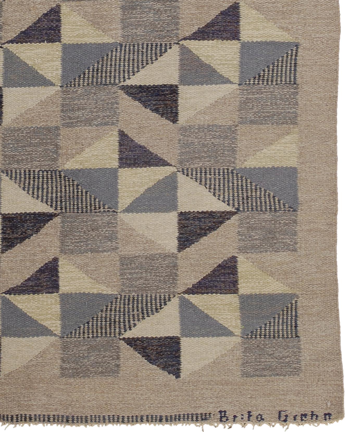 Swedish Flat Weave Rug #02810 | FJ Hakimian