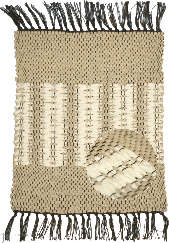 CS-Light Khaki-Cream Rib Flat Pile | FJ Hakimian