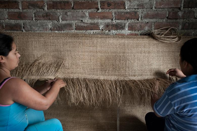 basketweavers in South America