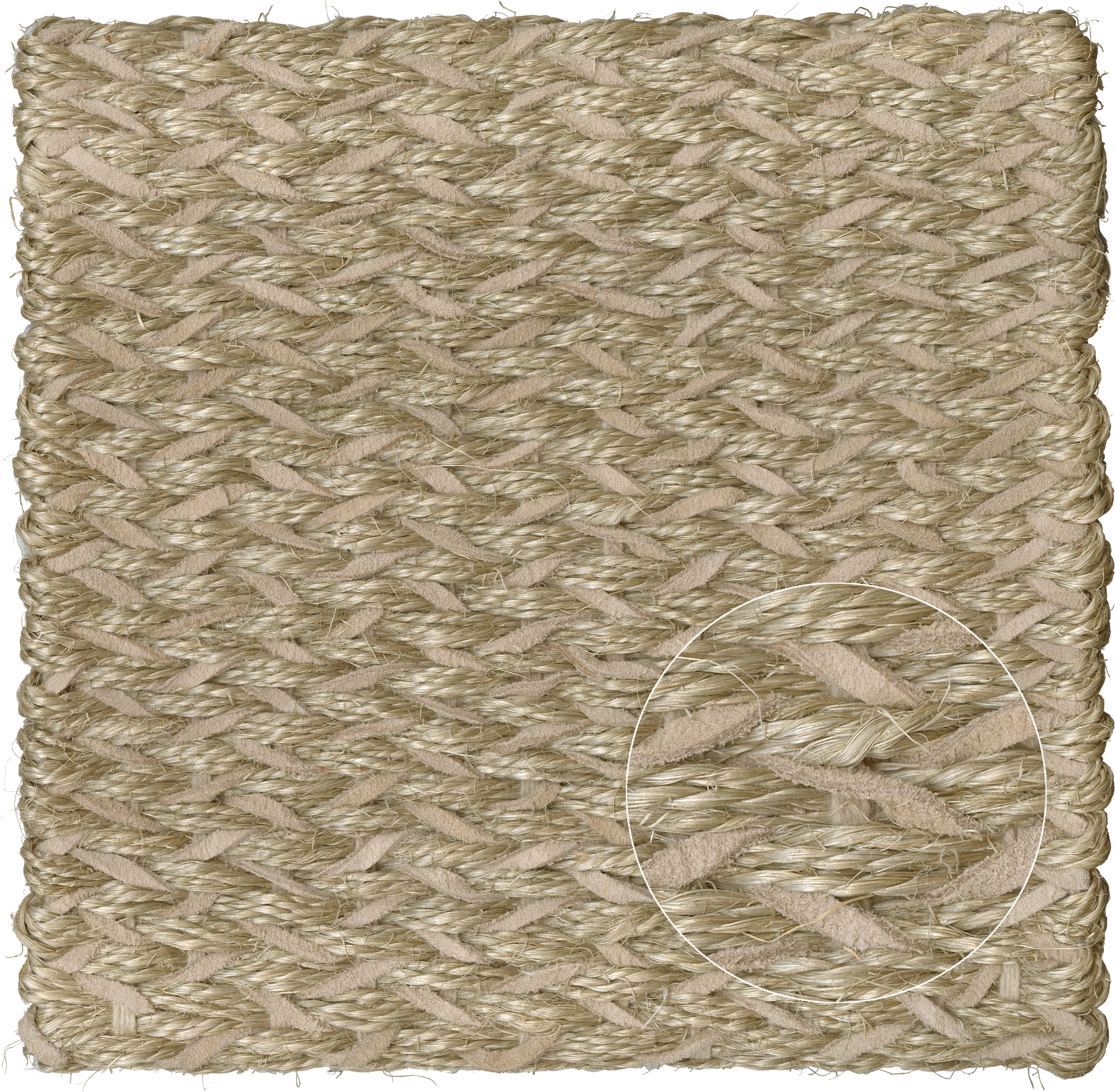 CF-CL-America Sisal-Couro-Grey Leather Sisal