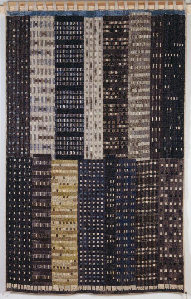 """Wall hanging """"Manhattan"""" by Ingrid Dessau © Bildupphovsrätt i Sverige"""