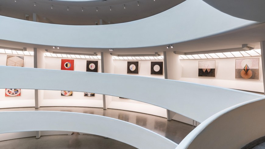 Hilma af Klint. an installation view at the Guggenheim   FJ Hakimian