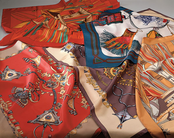 Scarves with Tuareg motifs, Hermès - Paris | FJ Hakimian